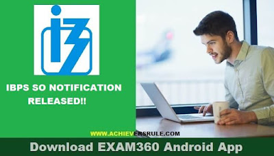 IBPS SO Application Link Activated
