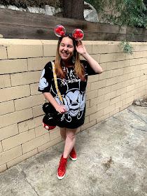 Disney, Disney fashion, #DisneyStyle, #MinnieStyle, Minnie ears, #EarsOutsidetheParks, fashion challenge, Disney fashion challenge, Akira sequin Mickey dress, JustFab red wedge sneakers, Mickey balloon ears