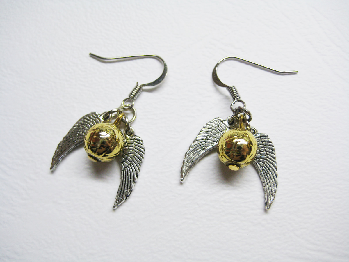 golden snitch earrings all 4 alabama day 23 item 1 harry potter inspired 7455