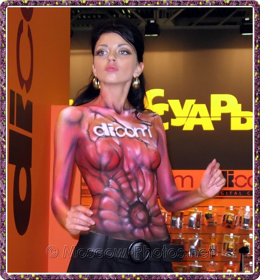 Body painted girl at Photoforum - 2008