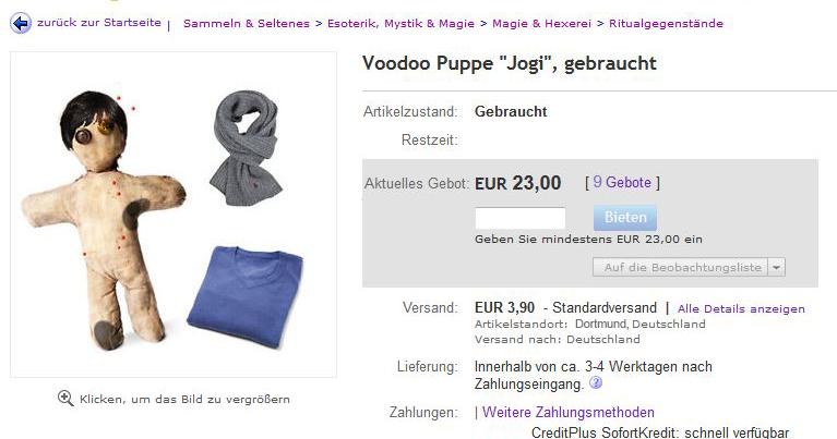 echte voodoo puppe