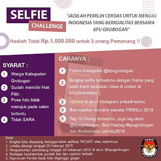 Ikuti...Selfie Challenge KPU Grobogan Berhadiah...