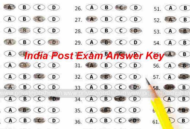 India Post Exam Answer Key