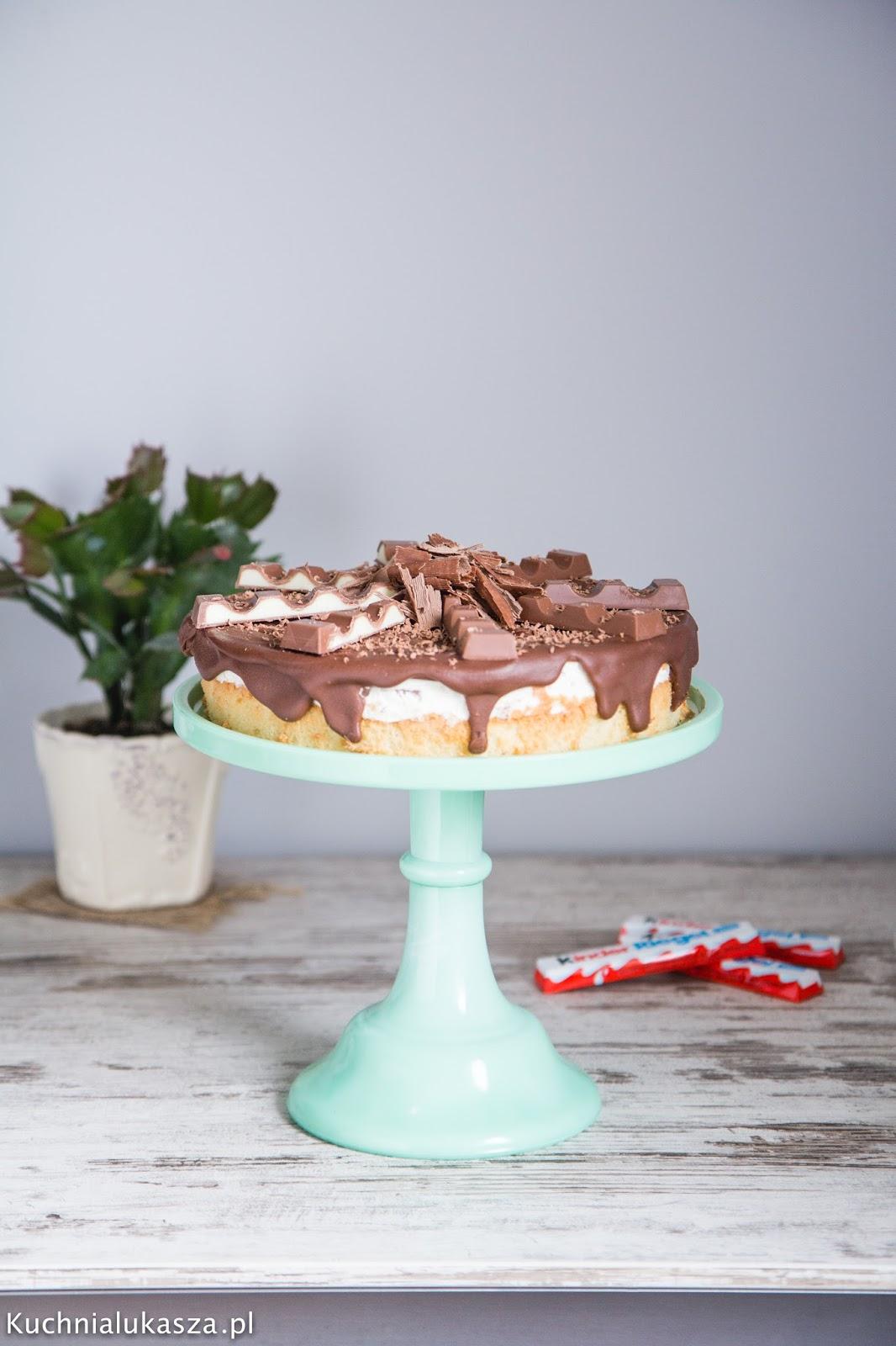 Ciasto z czekoladkami Kinder