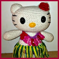 Kitty hawaiana amigurumi