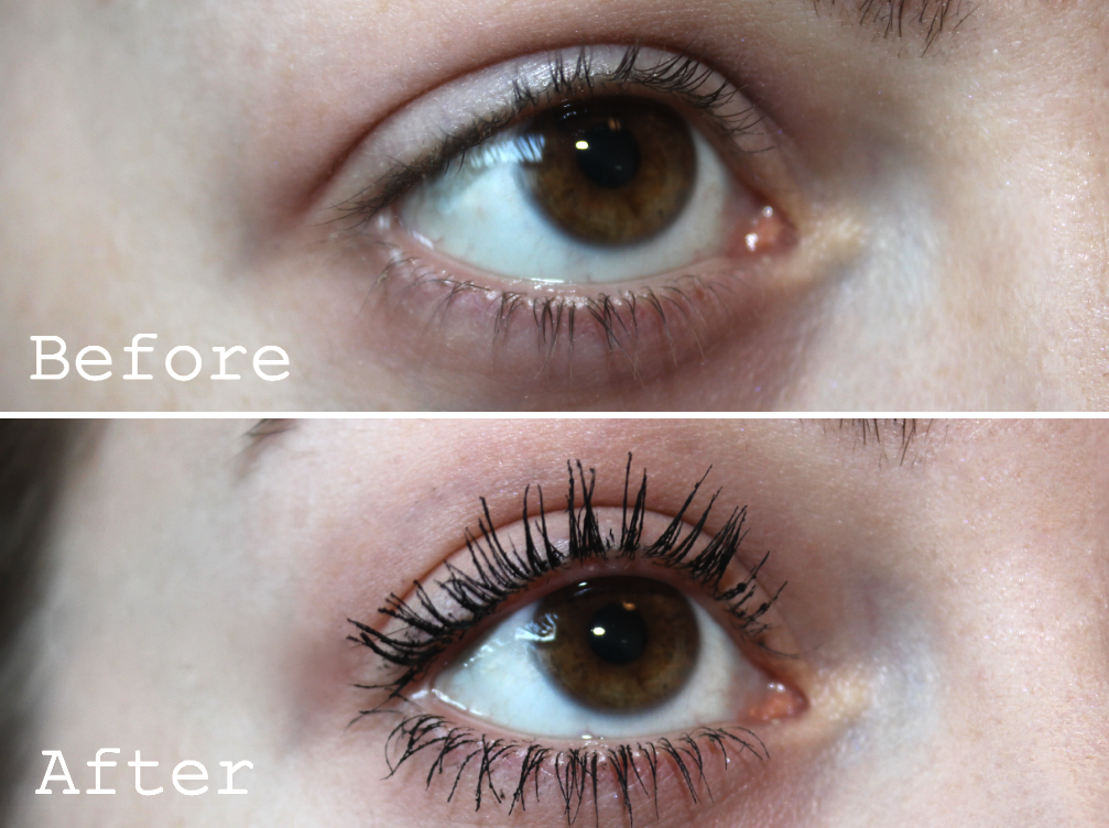 Maybelline The Falsies Mascara review blog girl culture rosy cherrington volum express Before After