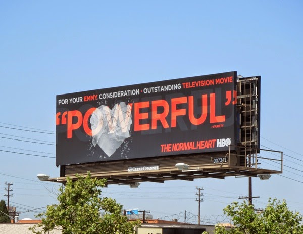 Powerful Normal Heart HBO 2014 Emmy billboard