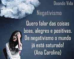 Livre sua vida do negativismo