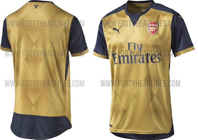 Arsenal 2015-16 away jersey