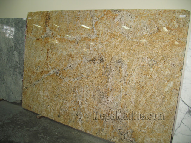 Yellow rain Granite slabs for countertop