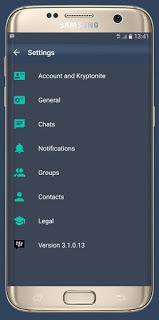 BBM MOD KRYPTONITE v3.1.0.13 APK (BBM DARK KEREN) UPDATE 2016