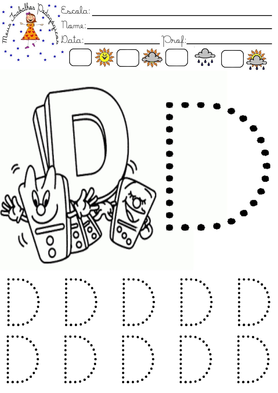 Meus Trabalhos Pedagogicos Atividades Com A Letra D