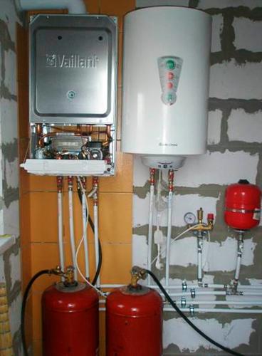 газовый котел Vaillant работает на сжиженном газе