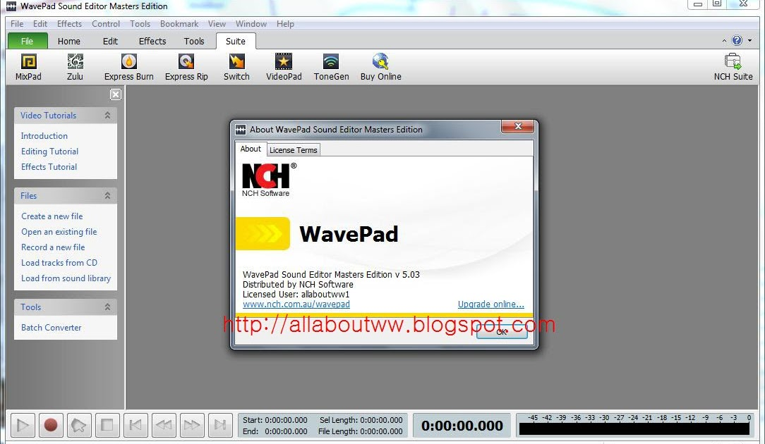 Wavepad sound editor Masters edition V5 90