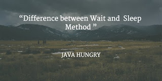 difference between sleep and wait method in java