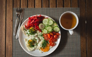 Wallpaper: Tasty and Healthy Breakfast