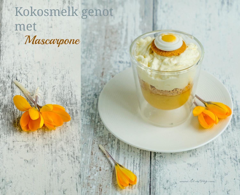Kokosmelk genot met mascarpone - Recept uit Brazilië