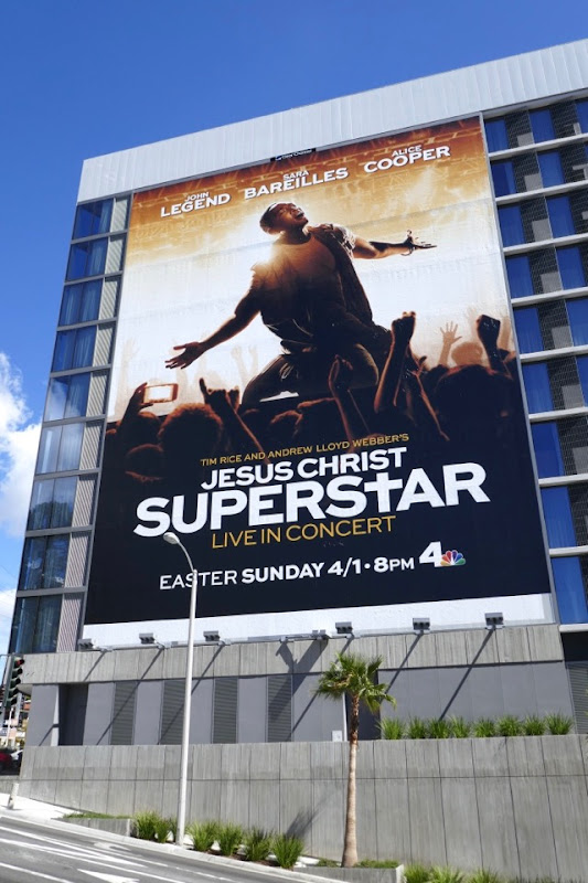 Giant Jesus Christ Superstar Live in Concert TV billboard