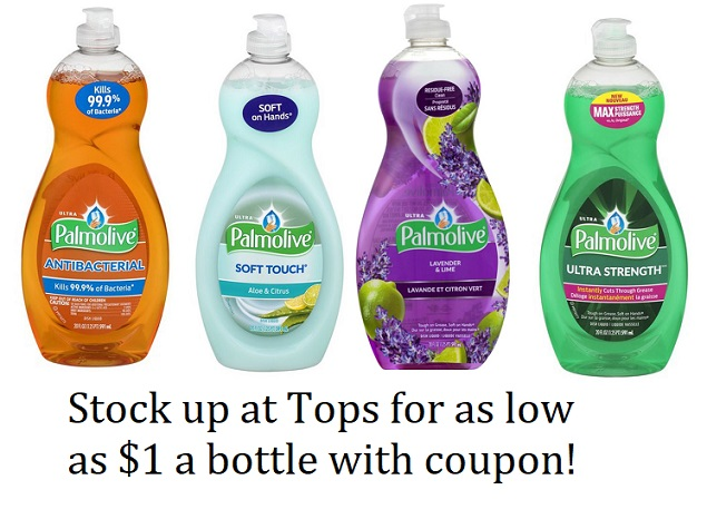 graphic regarding Palmolive Printable Coupon identify Palmolive Dish Cleaning soap Simply $1 for every bottle at Tops with sale
