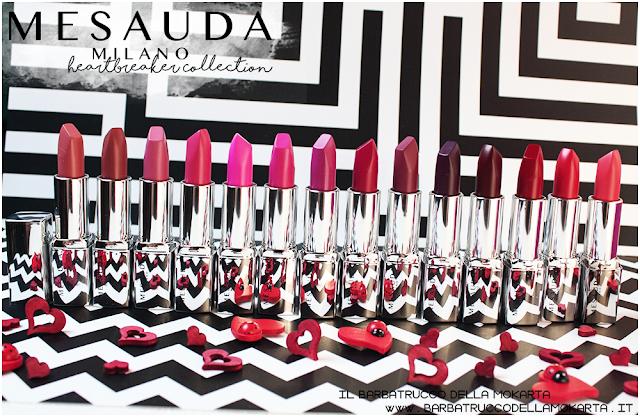 makeup swatches heartbreaker lipstick, rossetto matt , matt lipstick , mesauda