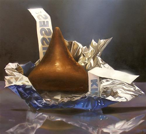 hershey's chocolate kiss painting