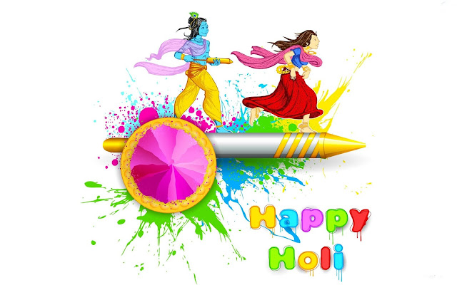 happy holi images with radha krishna