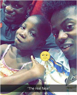 Korede Bello Snaps With Emmanuella The Real Face Girl