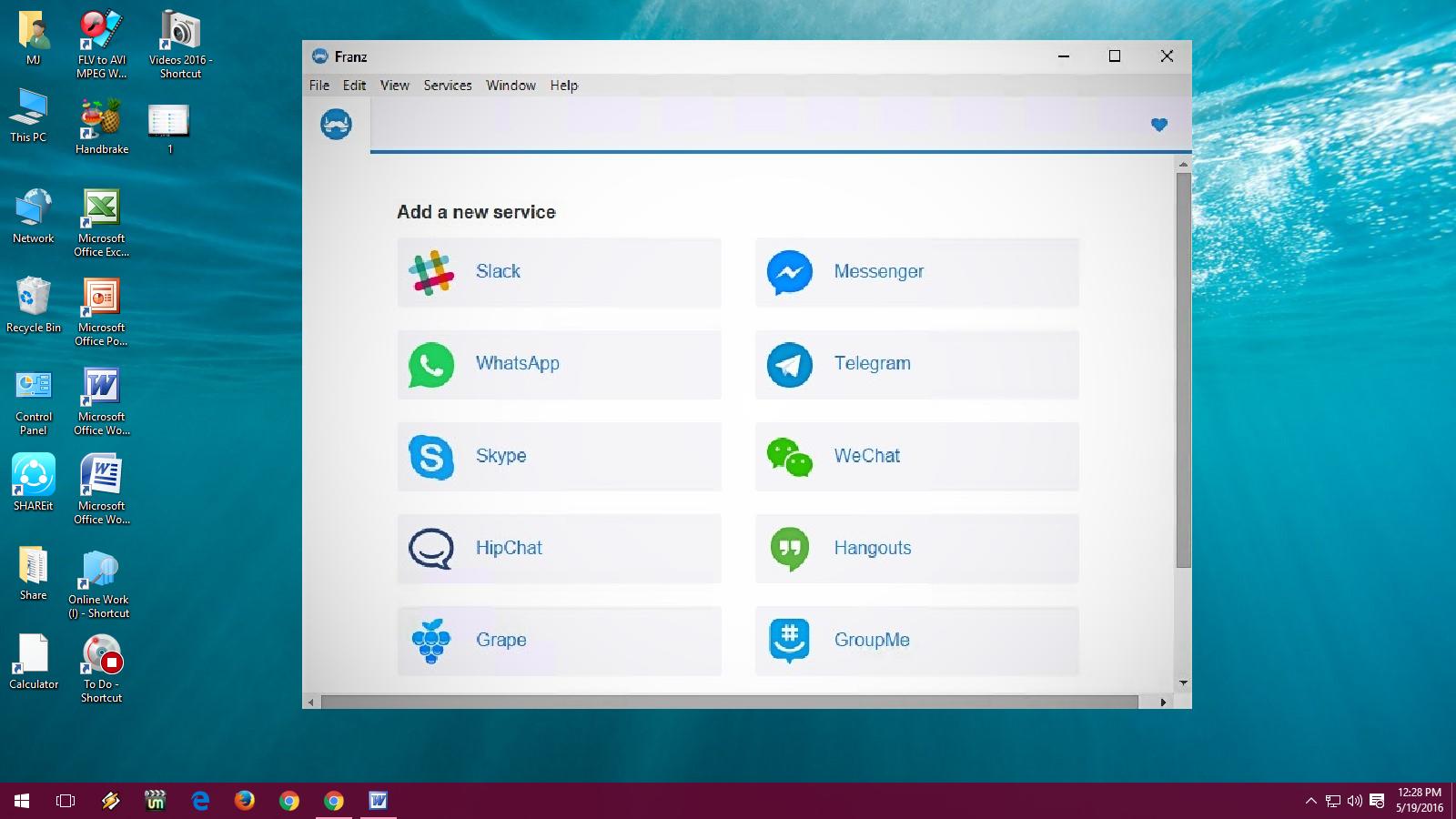 Learn New Things: One Messenger App for WhatsApp, Skype, FB