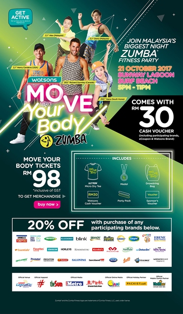 Watsons 2017 Move Your Body Zumba Is Back!