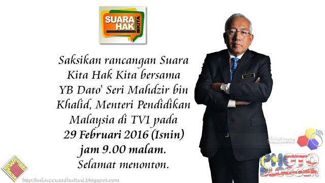 Suara Kita Hak Kita bersama YB Dato' Seri Mahdzir bin Khalid