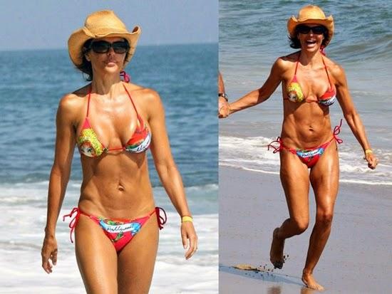 lisa rinna: salah satu selebriti dengan tubuh terburuk di pantai