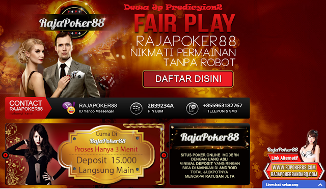 Rajapoker88 situs agen judi poker bandar domino qq terpercaya