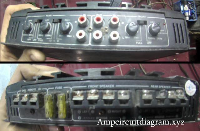 Car Power Amplifier input output
