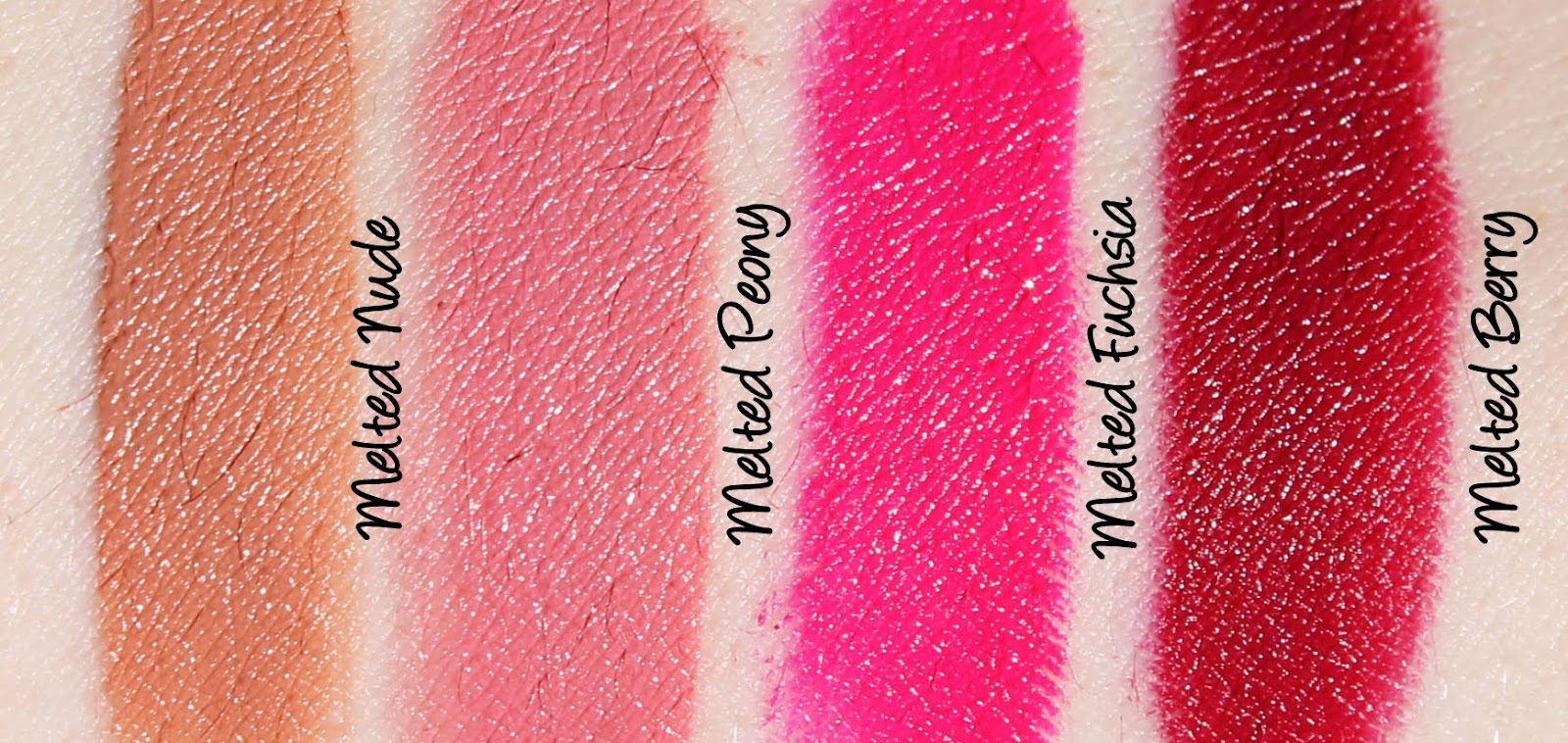Too Faced Melted Kisses Set Swatches & Review