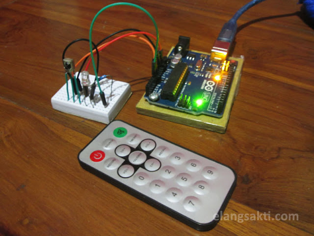 Arduino remote control lampu - persiapan alat