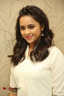 Actress Sri Divya Pictures at Rayudu Movie Success Meet  0067