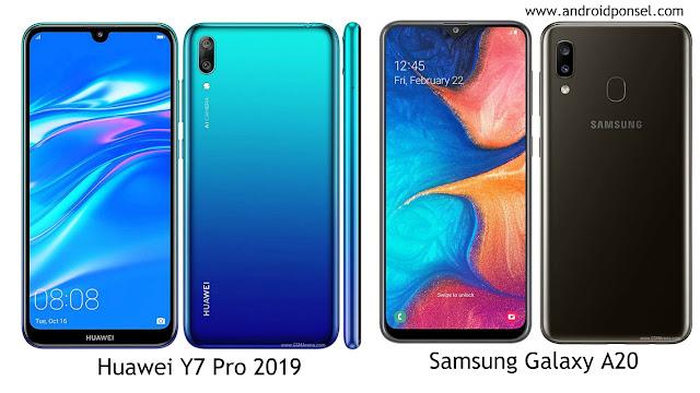 Perbandingan Huawei Y7 Pro (2019) VS Samsung Galaxy A20