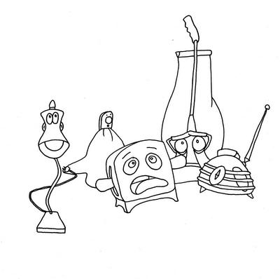 the brave little toaster coloring pages novedades disney la tostadora valiente
