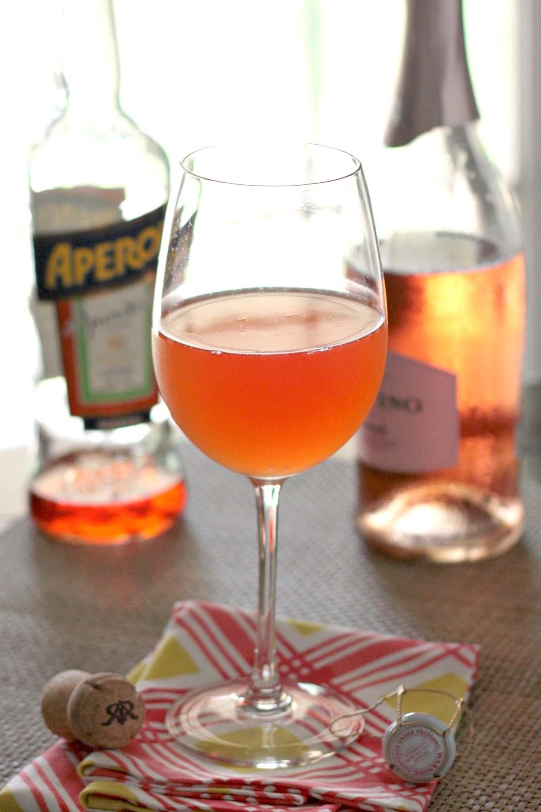 rose aperol spritz