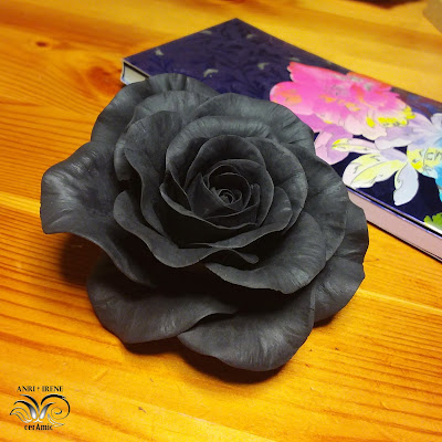Ceramic black rose