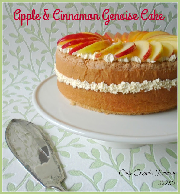 Apple and Cinnamon Genoise Cake
