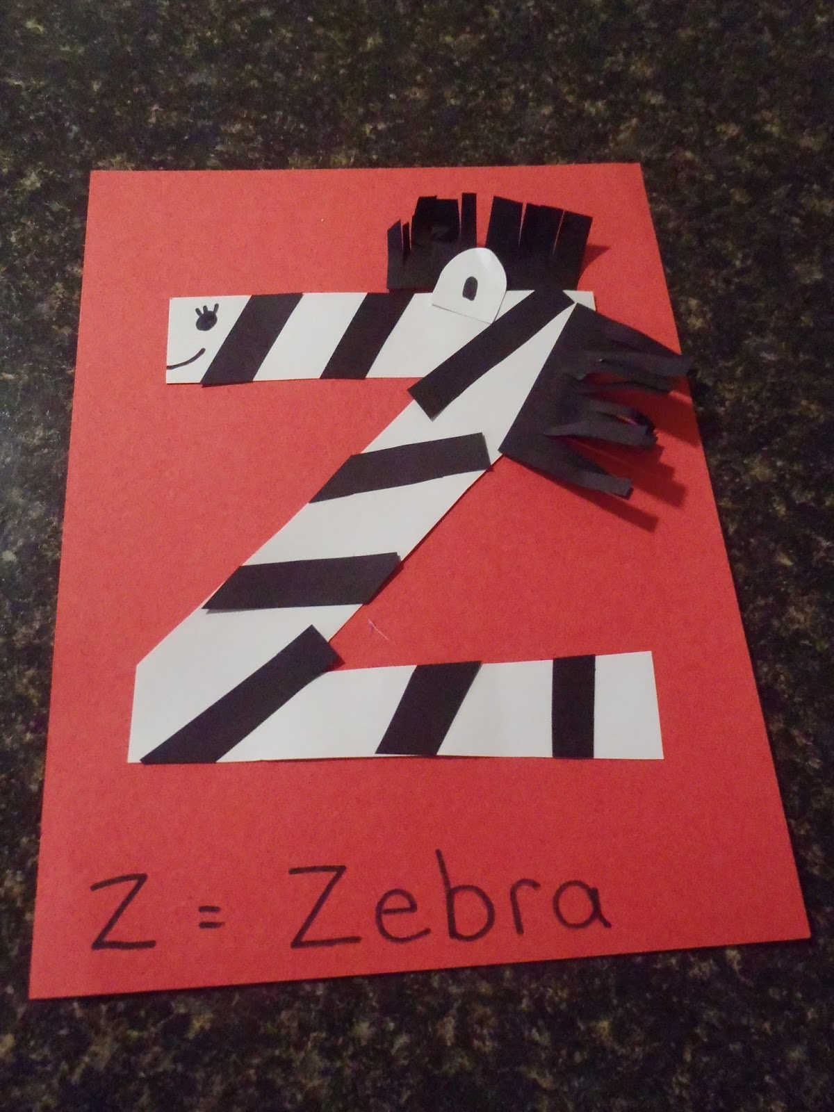 is the letter z craft we did and also a letter z sort i made different ...
