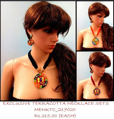Terracotta Necklace sets coming up with fresh beautiful and colourful designs