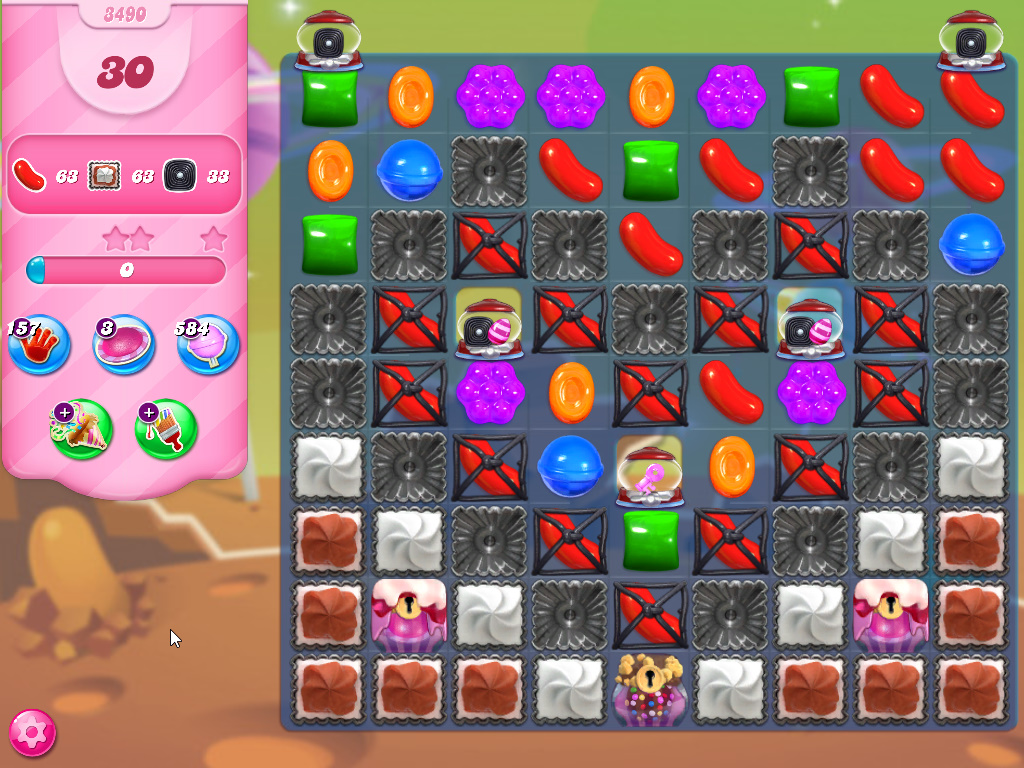 Candy Crush Saga level 3490