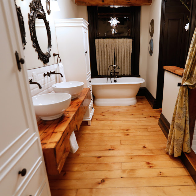 custom rustic bathroom