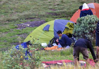 kondisi tenda kami, tenda warna hijau