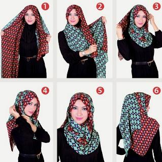 Tutorial Hijab Syari simpel