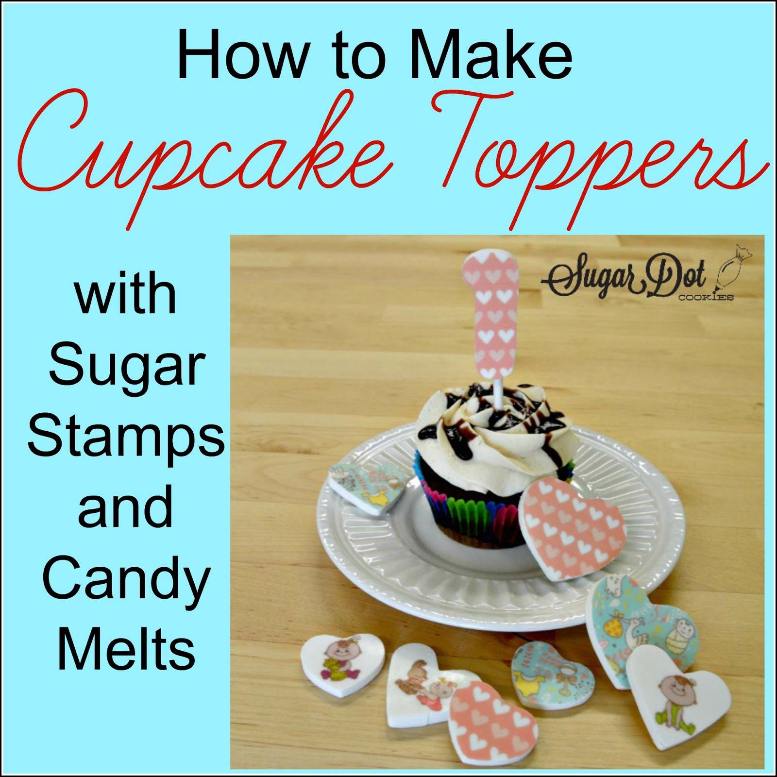 sugar dot cookies tutorial how to make candy melt cupcake