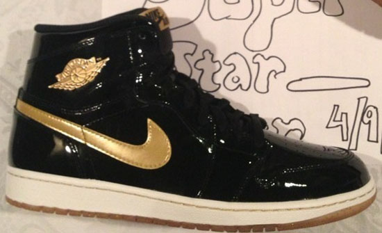 quality design 79780 20329 spain nike air jordan 1 retro i 2003 black patent leather metallic gold  size 12 defects on patent 2a5b2 8d6a3  ireland one of the rarest original air  jordan ...