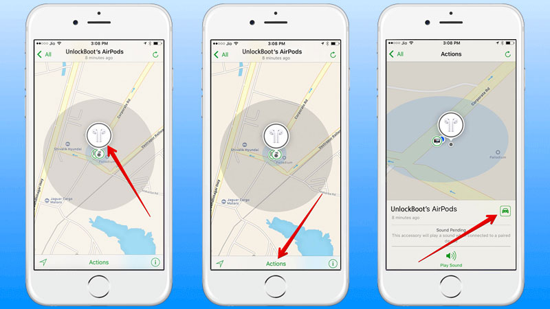 Steps to locate the misplaced or lost airpods using your iphone